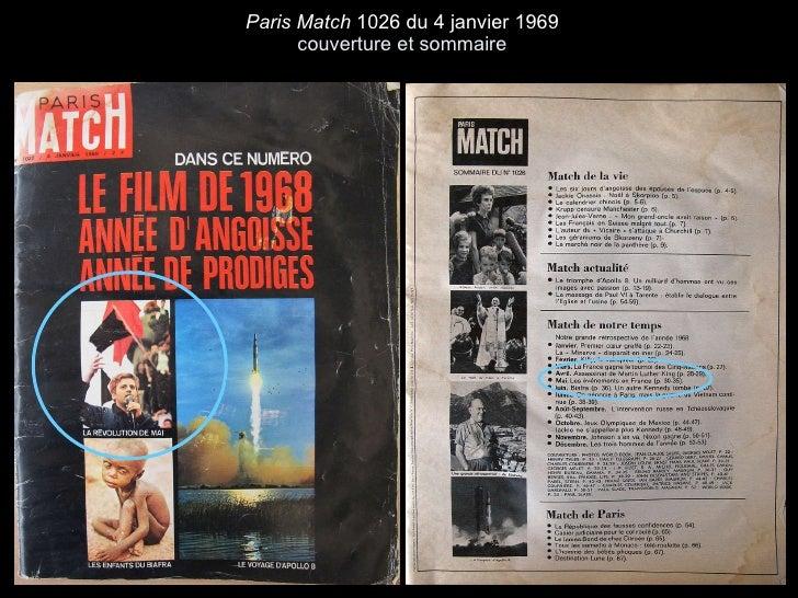 Paris Match  1026 du 4 janvier 1969 couverture et sommaire