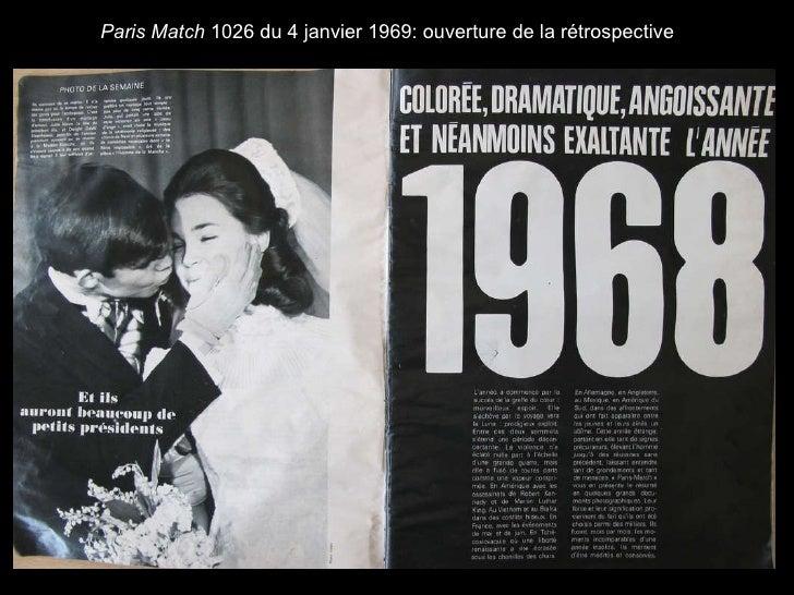 Paris Match  1026 du 4 janvier 1969: ouverture de la rétrospective