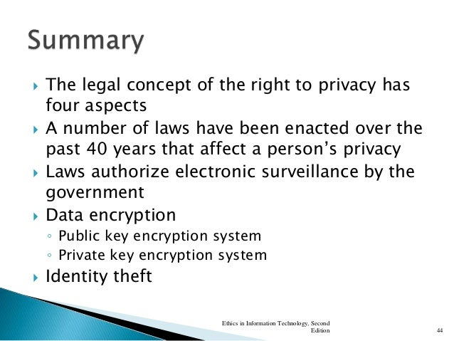 Legal and ethical aspects of electronic