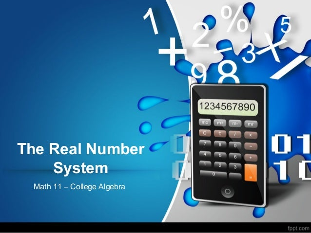 04 real numbers