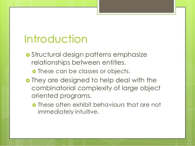 PATTERNS04 - Structural Design Patterns Slide 2