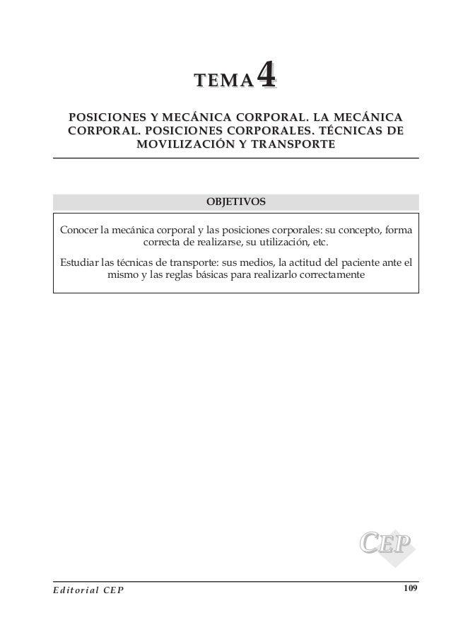 TEMATEMA 44 POSICIONES Y MECÁNICA CORPORAL. LA MECÁNICAPOSICIONES Y MECÁNICA CORPORAL. LA MECÁNICA CORPORAL. POSICIONES CO...