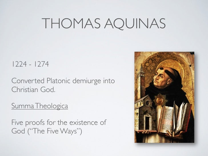 an analysis of thomas aquinas arguments on the existence of god In particular, i will focus on saint thomas aquinas's efficient causation argument for god's existence and an objection to it from bertrand russell after an analysis of aquinas's argument and a presentation of russell's objection, i will show how russell's objection fails.