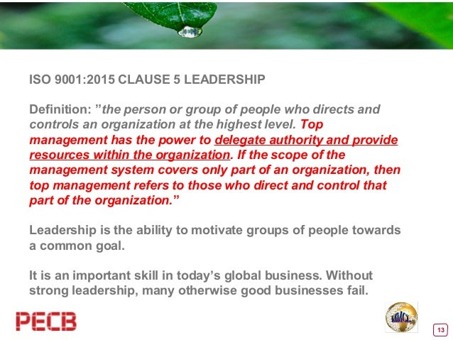 The Role Of The New Iso 9001 2015 Leadership Requirements