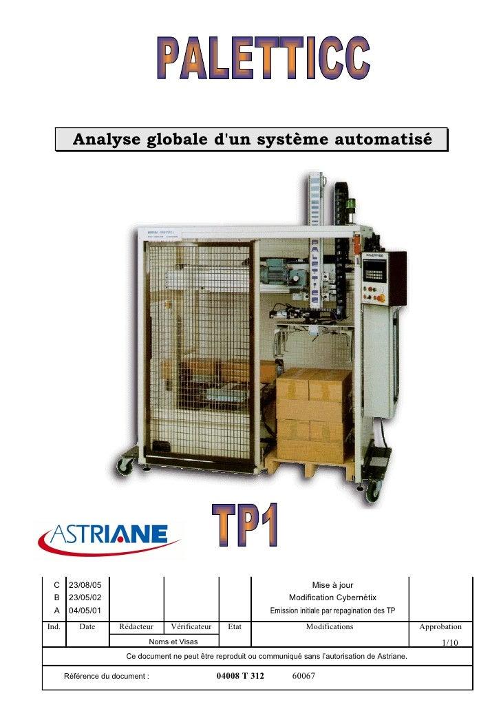 Analyse globale d'un système automatisé      C      23/08/05                                                             M...