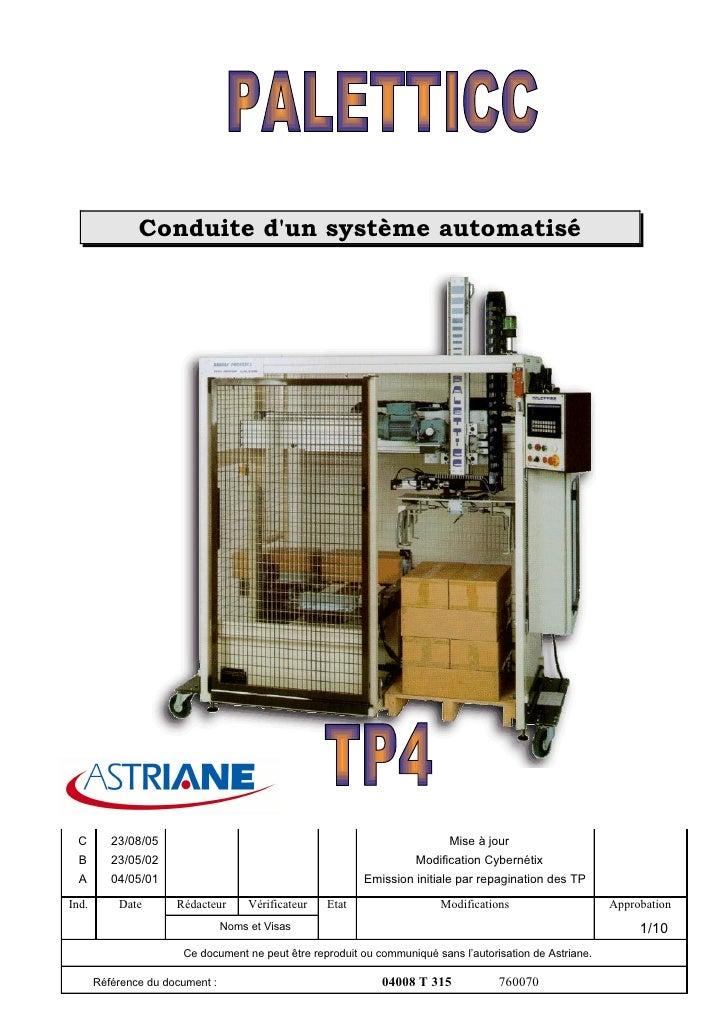 Conduite d'un système automatisé      C        23/08/05                                                         Mise à jou...