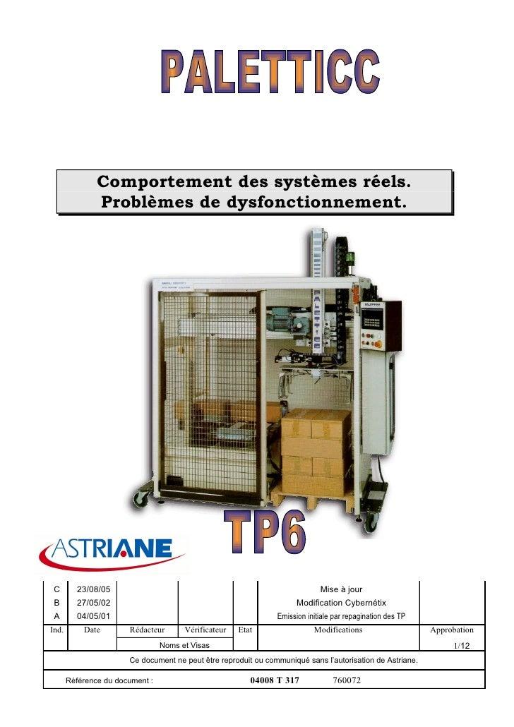 Comportement des systèmes réels.                Problèmes de dysfonctionnement.      C       23/08/05                     ...