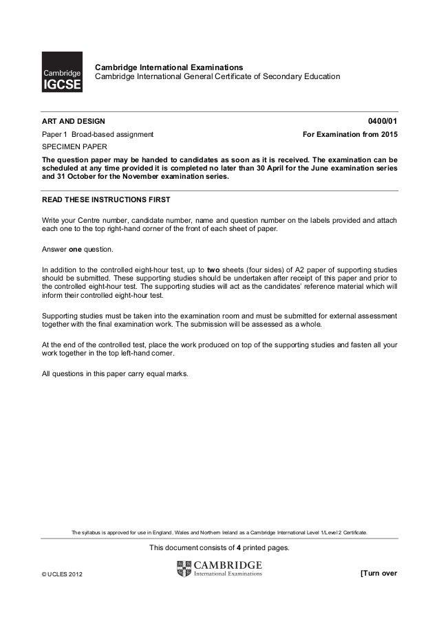Cambridge International Examinations                   Cambridge International General Certificate of Secondary EducationA...