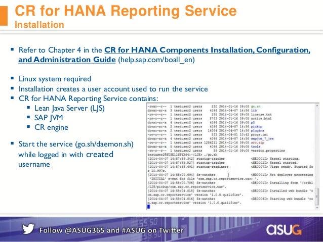 SAP Crystal Reports & SAP HANA - Integration and Roadmap