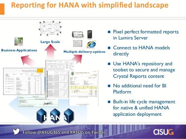 SAP Crystal Reports and SAP HANA Integration and Roadmap – Reporting Roadmap