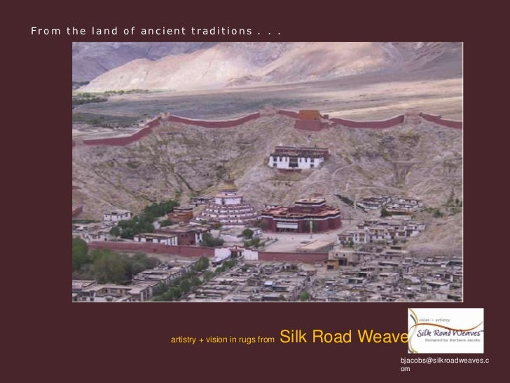 From the land of ancient traditions . . .<br />artistry + vision in rugs from  Silk Road Weaves <br />bjacobs@silkroadweav...