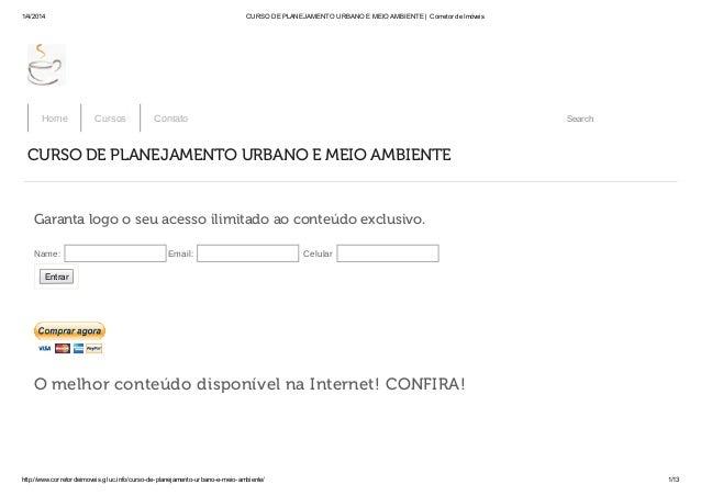 1/4/2014 CURSO DE PLANEJAMENTO URBANO E MEIO AMBIENTE | Corretor de Imóveis http://www.corretordeimoveis.gluc.info/curso-d...