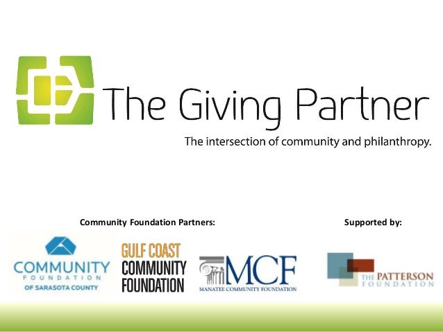 Community Foundation Partners: Supported by: