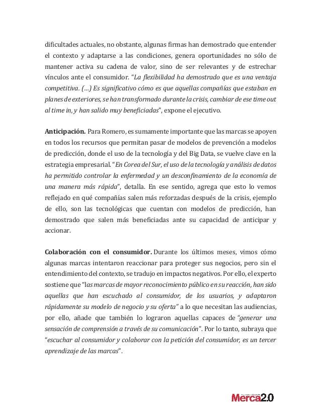 """Alejandro Romero: """"El nuevo rostro de las marcas tras el impacto de la crisis"""" Slide 2"""