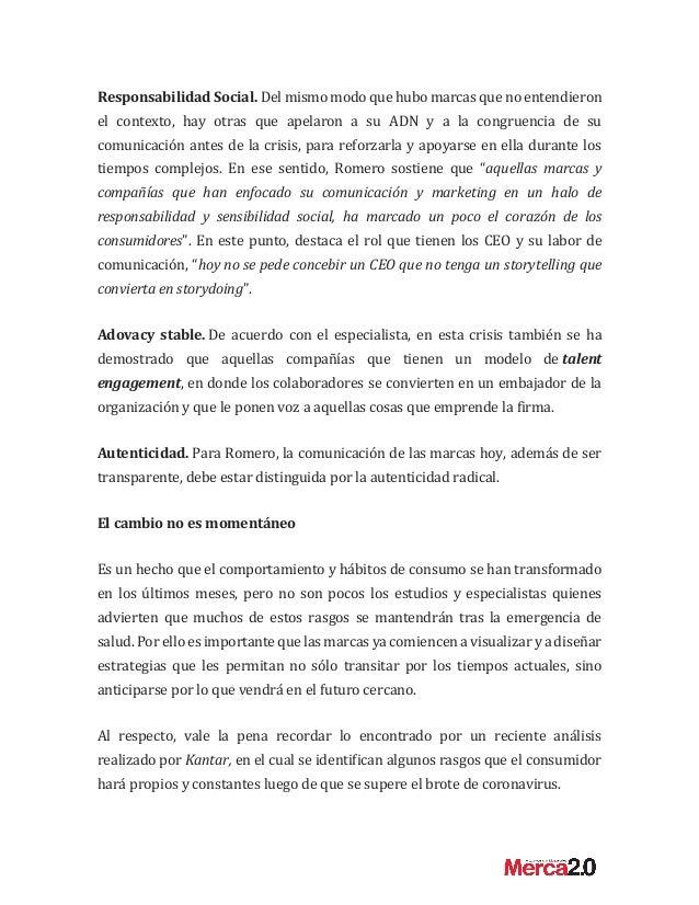 """Alejandro Romero: """"El nuevo rostro de las marcas tras el impacto de la crisis"""" Slide 3"""