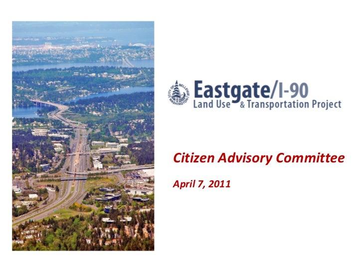 Citizen Advisory CommitteeApril 7, 2011