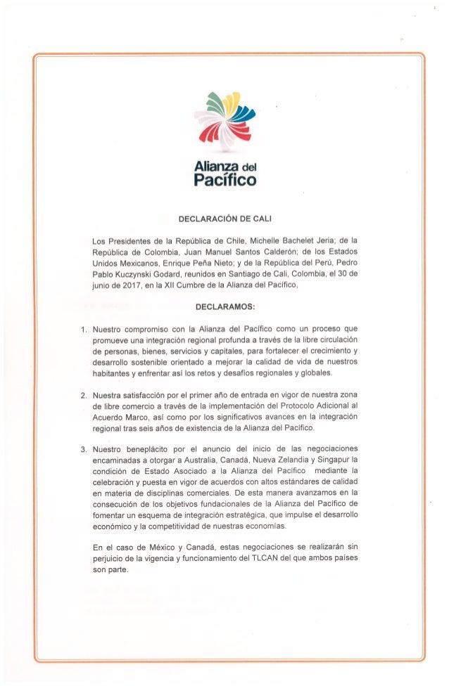 Alianza del Pacífico - Declaración de Cali