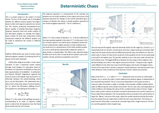 Introduction This is a project based on the subject of chaos theory. The aim of this project was to investigate whether fo...