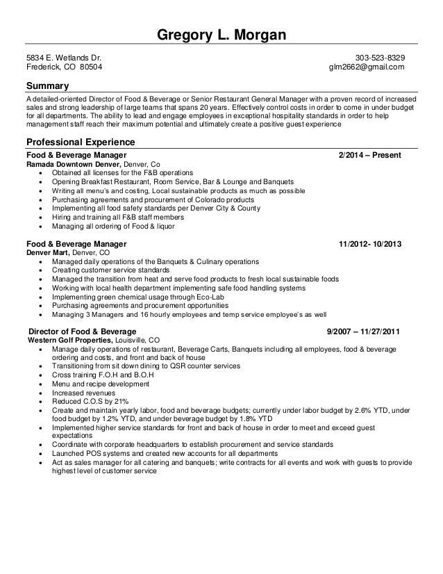 Gregory Morgan Resume
