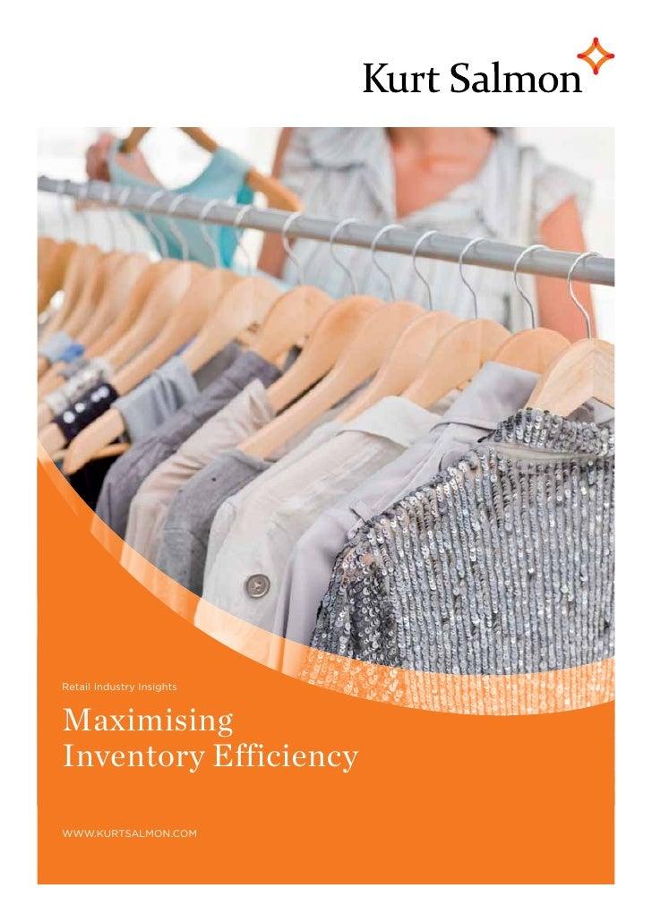 Retail Industry InsightsMaximisingInventory Efficiencywww.kurtsalmon.com