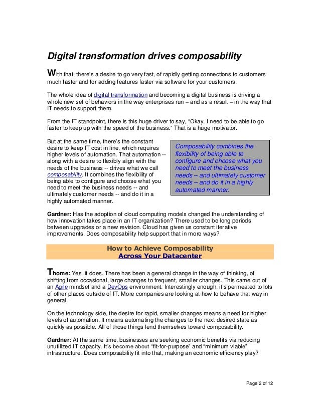 How the Composable Approach to IT Aligns Automation and Intelligence to Overcome Mounting Complexity Slide 2