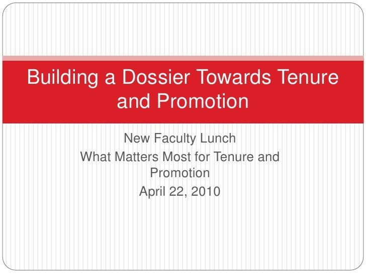 New Faculty Lunch<br />What Matters Most for Tenure and Promotion<br />April 22, 2010<br />Dr. Brenda Allen, <br />Provost...
