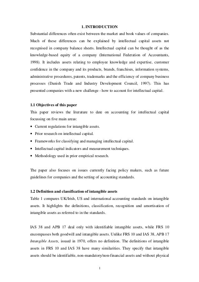 intellectual capital valuation essay Since the intellectual capital has gradually  capitalizing human resources in company management essay  impossibility of adequate hr valuation due to.