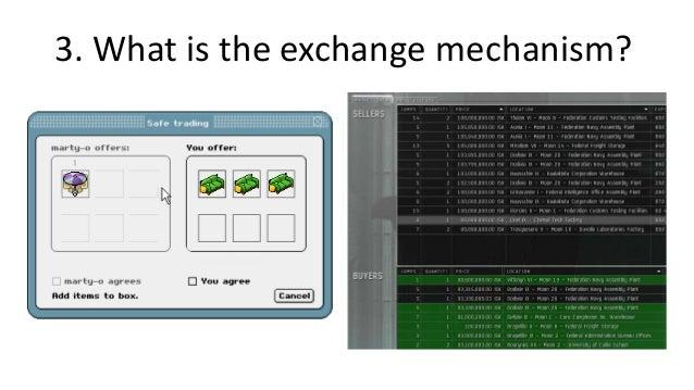 Choosing an exchange mechanismMost social   Personal tradeinteraction      Escrow                   Fair                 B...