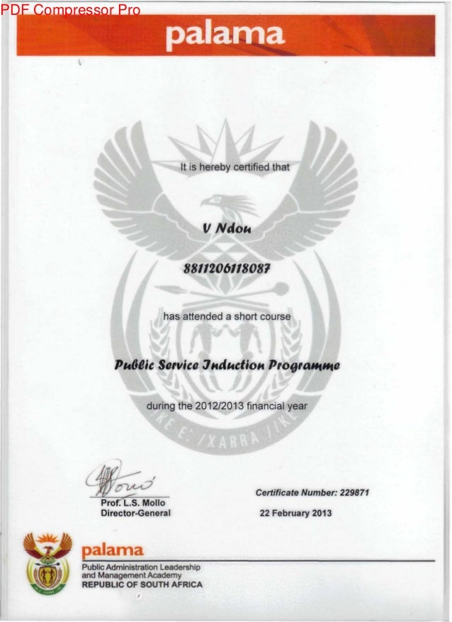 palama ftl It is hereby certified that VNdoi* 8811206118087 u has attended a short course VI PuGCic Service JudkctioH duri...