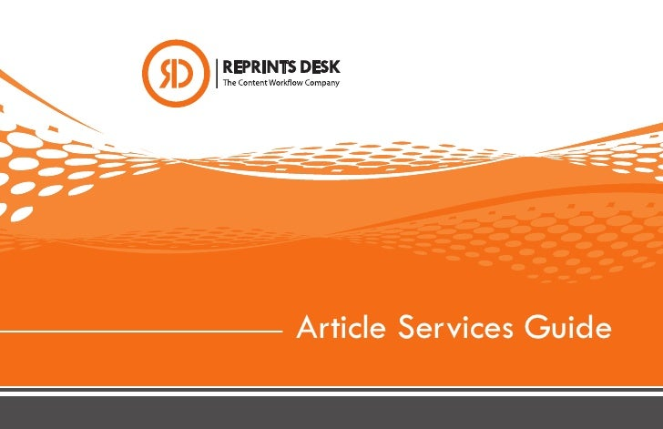 Article Services Guide