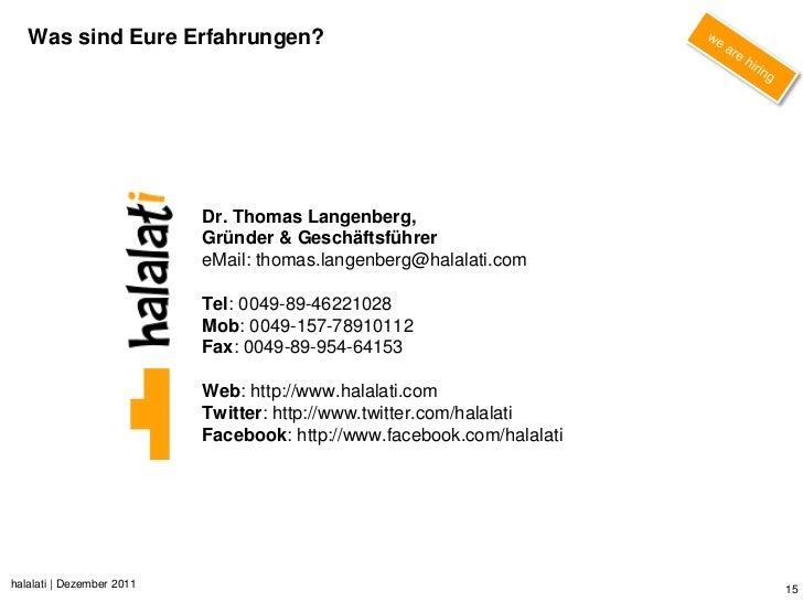 Was sind Eure Erfahrungen?                           Dr. Thomas Langenberg,                           Gründer & Geschäftsf...