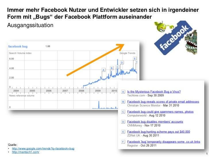 """Immer mehr Facebook Nutzer und Entwickler setzen sich in irgendeinerForm mit """"Bugs"""" der Facebook Plattform auseinanderAusg..."""