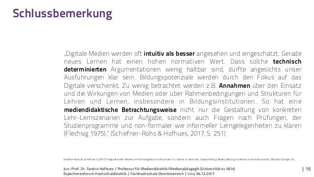 Jun.-Prof. Dr. Sandra Hofhues | Professur für Mediendidaktik/Medienpädagogik (Universität zu Köln) ExpertInnenforum Hochsc...