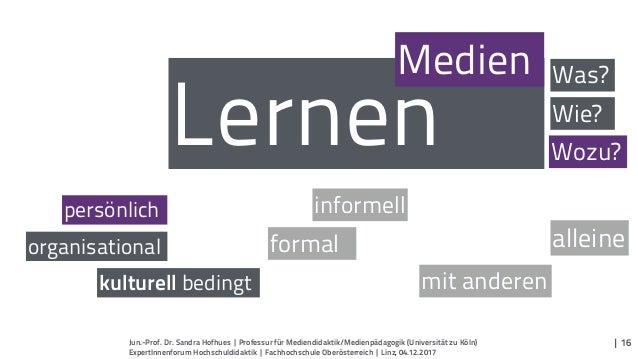 Lernen informell formal mit anderen alleine persönlich kulturell bedingt Medien organisational Was? Wie? Wozu? | 16Jun.-Pr...