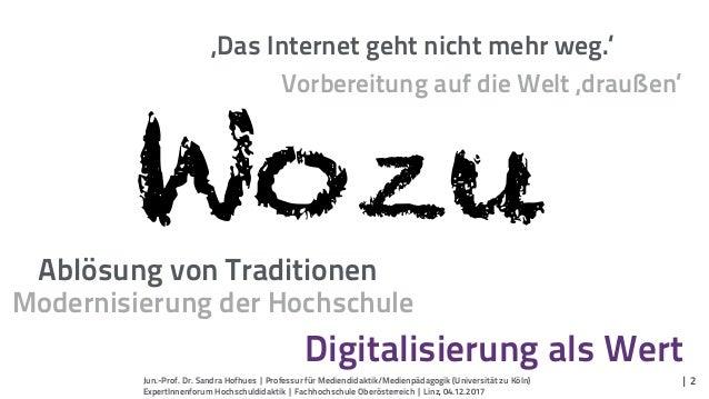 'Das Internet geht nicht mehr weg.' Jun.-Prof. Dr. Sandra Hofhues | Professur für Mediendidaktik/Medienpädagogik (Universi...
