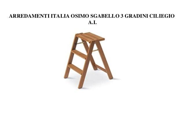 ARREDAMENTI ITALIA OSIMO SGABELLO 3 GRADINI CILIEGIO A.I.