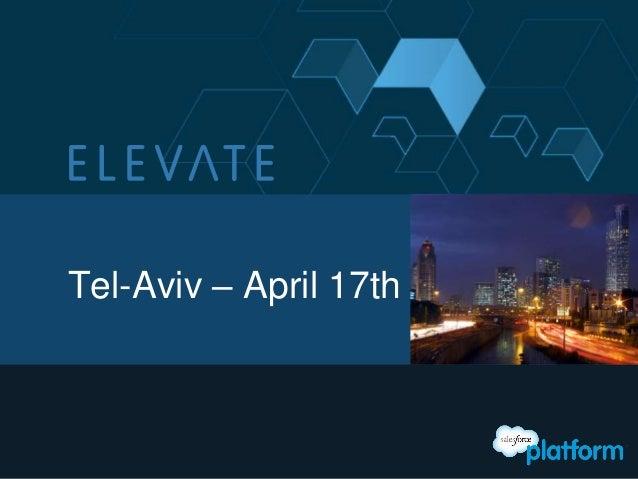 Tel-Aviv – April 17th
