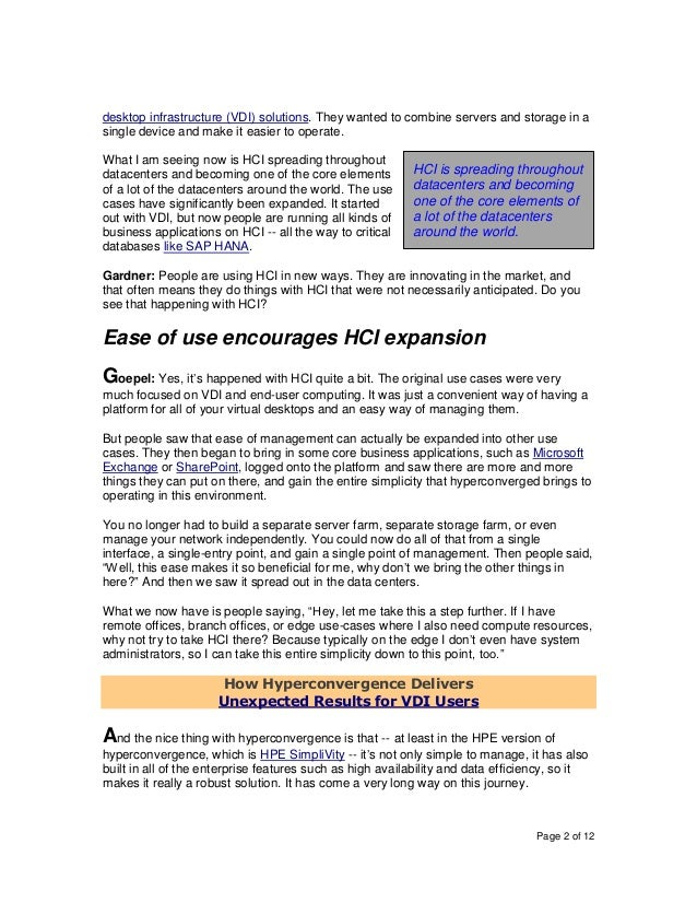 How HCI Forms the Simplest Foundation for Hybrid Cloud And Composable Infrastructure Strategies  Slide 2