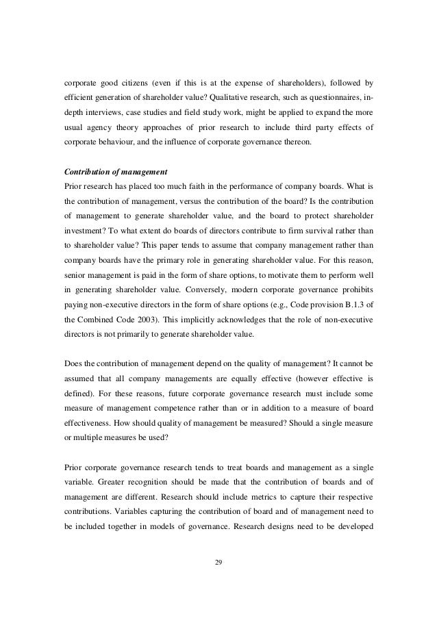 Exemplification Essay Thesis   Corporate  Frankenstein Essay Thesis also Who Can Write My Assignment For Me Brennan Niamh  Boards Of Directors And Firm Performance Is Th Cause And Effect Essay Thesis