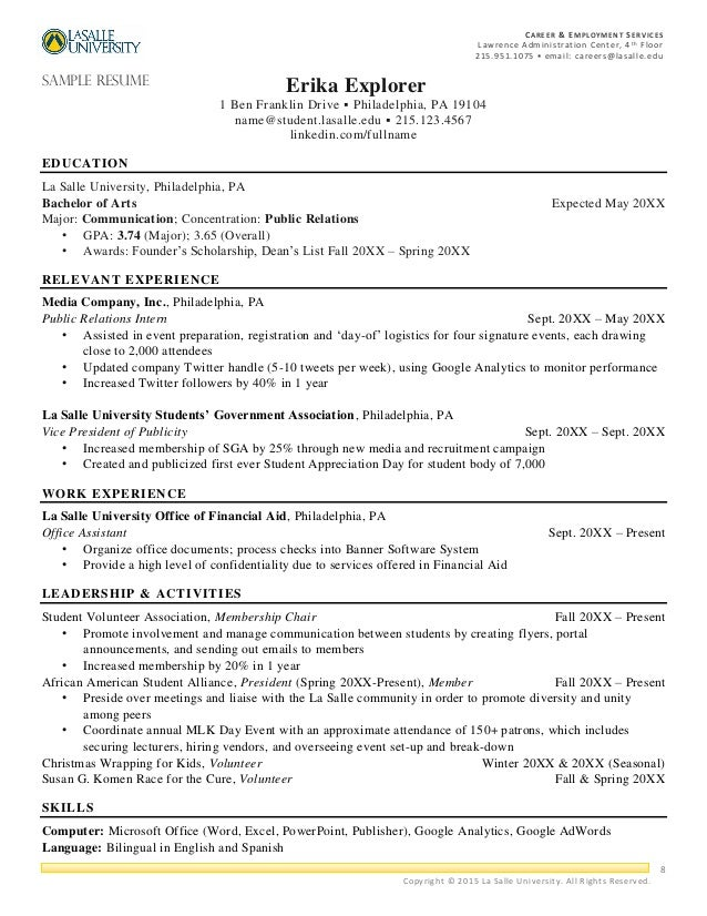 professional resume packet