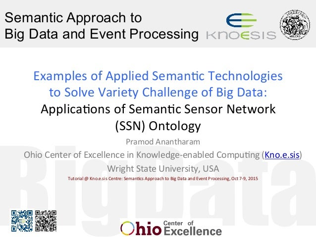 BigData Semantic Approach to Big Data and Event Processing ExamplesofAppliedSeman1cTechnologies toSolveVarietyCha...