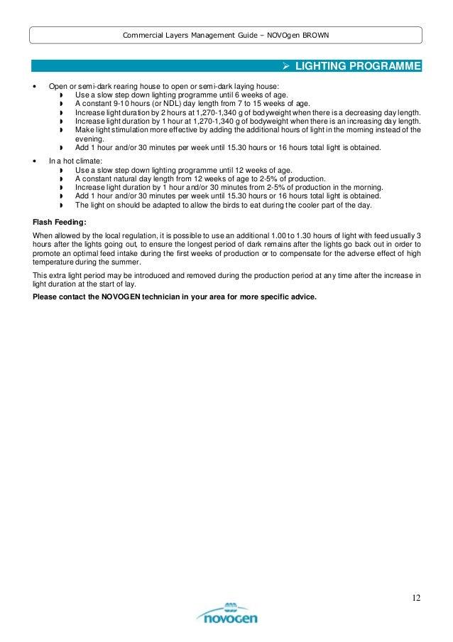 12. 12 Commercial Layers Management Guide u2013 NOVOgen BROWN LIGHTING PROGRAMME ...  sc 1 st  SlideShare & NOVOgen BROWN -- Commercial Layers Management Guide azcodes.com