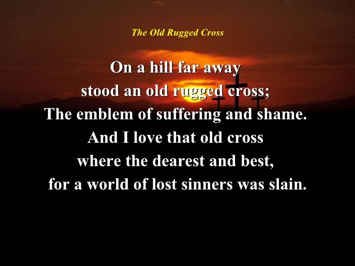 11 The Old Rugged Cross