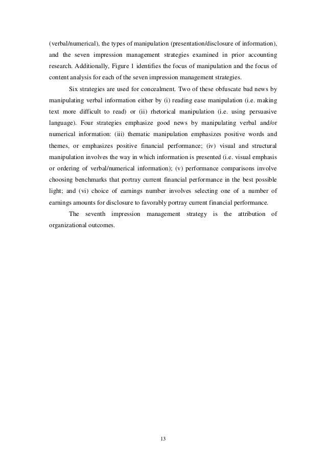 merkl davies doris m and brennan niamh m discretionary dis impression management 12 14