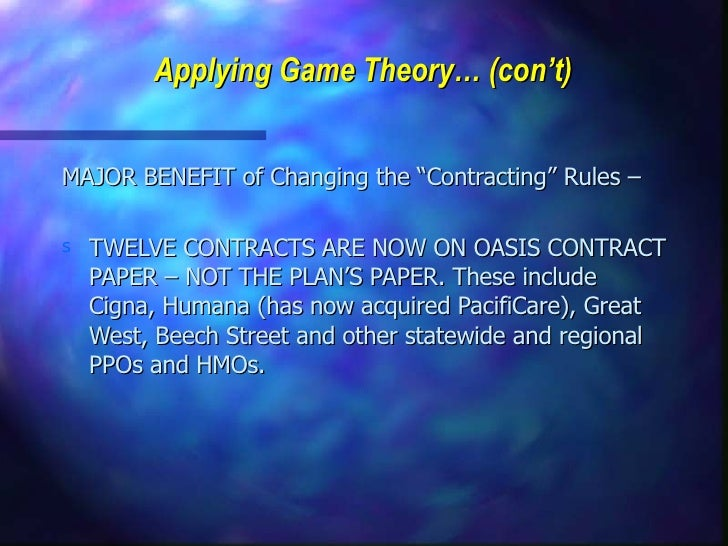 Negotiation: Game Theory