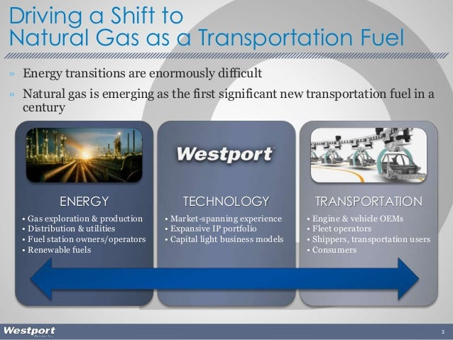 » Energy transitions are enormously difficult » Natural gas is emerging as the first significant new transportation fuel i...