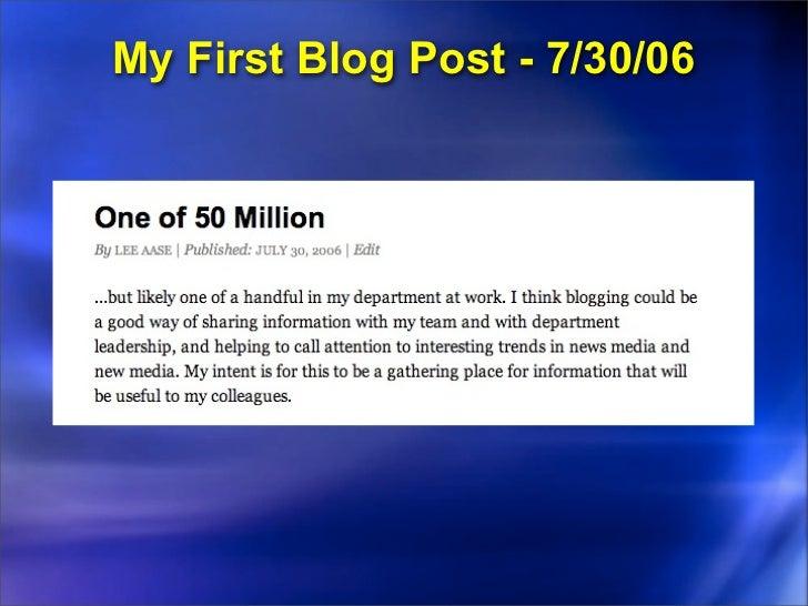 Blogging an Event: Nov. 2007