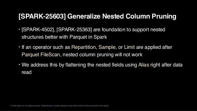 Making Nested Columns as First Citizen in Apache Spark SQL
