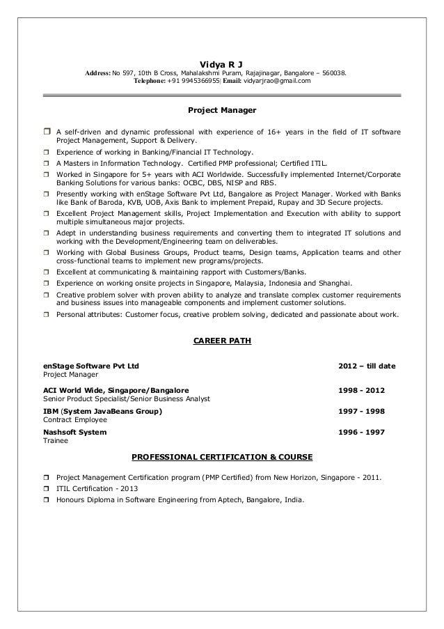 Vidyarjprojectmanagerscvlatest