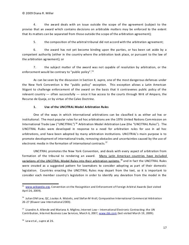 arbitration final paper Enforcing arbitration awards  affidavit or other paper upon which the application to  once the parties agree that the arbitration award will be final and.